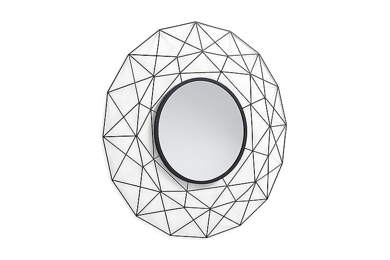 HABITA Spegel Rund Metall - Grå|Svart - Inredning - Väggdekor - Speglar