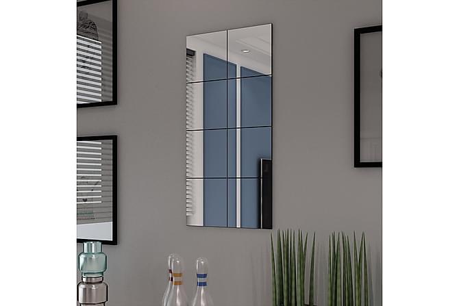 Ramlösa spegelplattor glas 8 st 20,5 cm - Transparent - Inredning - Väggdekor - Speglar