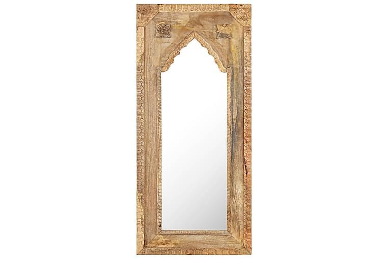 Spegel 50x3x110 massivt mangoträ - Brun - Inredning - Väggdekor - Speglar