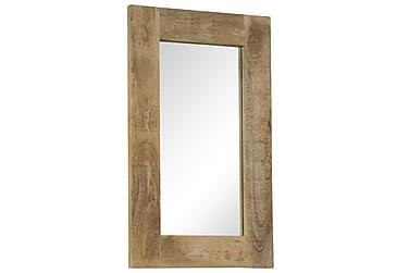 Spegel i massivt mangoträ 50x80 cm
