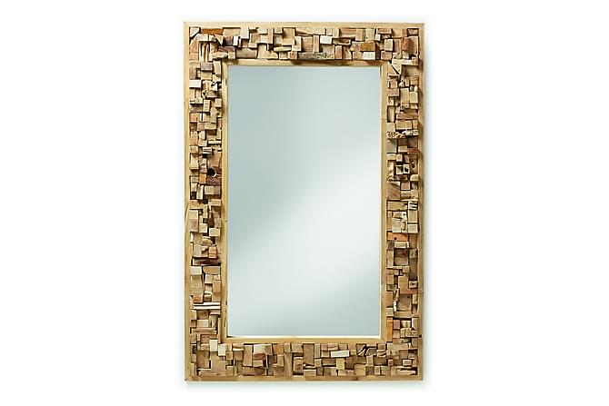 Spegel Yalana 80/7 cm Teak - Beige - Inredning - Väggdekor - Speglar