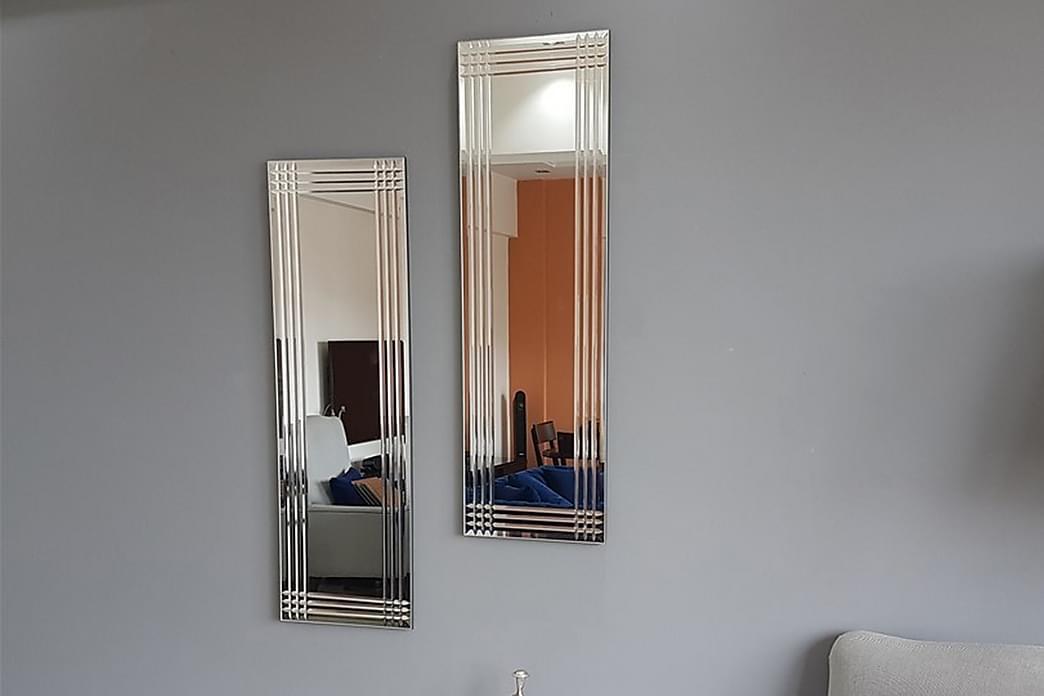 Spegelset Två Delar Medeiros 25 cm - Silver - Inredning - Väggdekor - Speglar