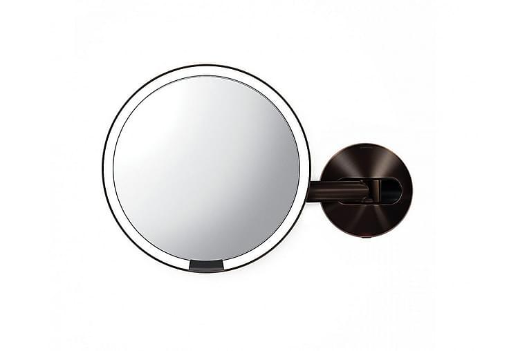Väggmonterad LED sensorspegel med 5x förstoring - SimpleHuman - Inredning - Väggdekor - Speglar