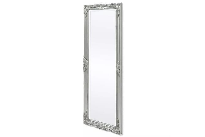 Väggspegel barockstil 140x50 cm silver - Silver - Inredning - Väggdekor - Speglar