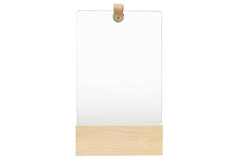 Väggspegel massiv furu 23x39,5 cm - Brun - Inredning - Väggdekor - Speglar