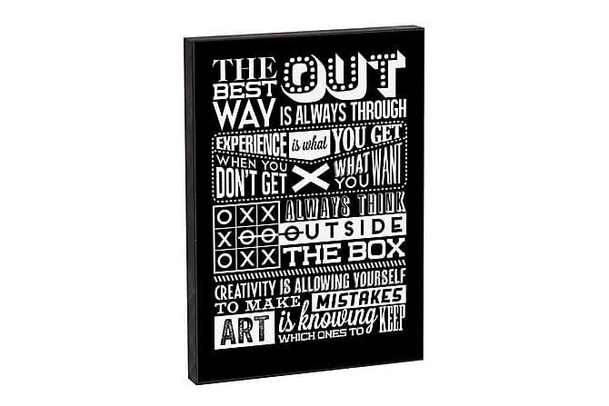 Out 3-D tavla 21*15*2 - Vit|Svart - Inredning - Väggdekor - Tavlor & konst