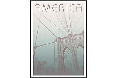 Tavla Brooklyn Bridge 50x70 cm
