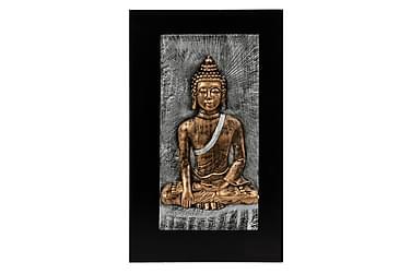 Tavla Buddah Antikmässing
