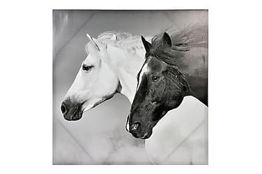 Tavla Hästar Svart/Vit