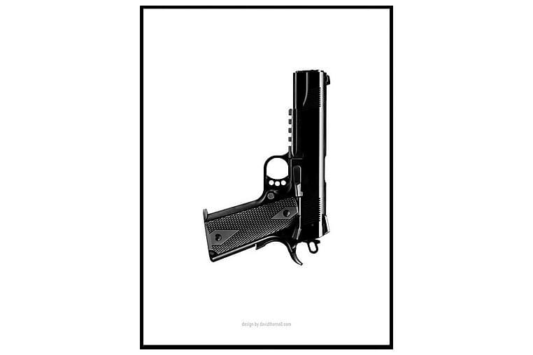 Poster Black gun - Finns i flera storlekar - Inredning - Väggdekor - Posters