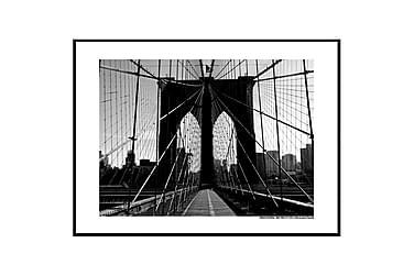 Poster Brooklyn Bridge promenade