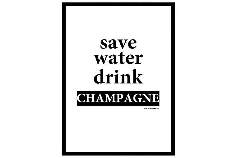 Poster Drink Champagne - Finns i flera storlekar - Inredning - Väggdekor - Posters