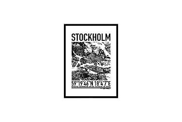 Poster Stockholm map