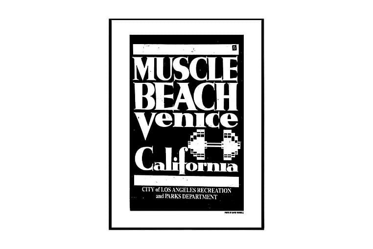 Poster Venice Muscle Beach - Finns i flera storlekar - Inredning - Väggdekor - Posters
