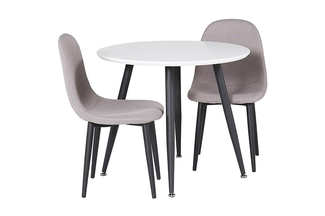 Carltone Matgrupp för barn 60 cm Rund med 2 Domvik Matstolar - Grå|Vit|Svart - Möbler - Barnmöbler - Barnbord