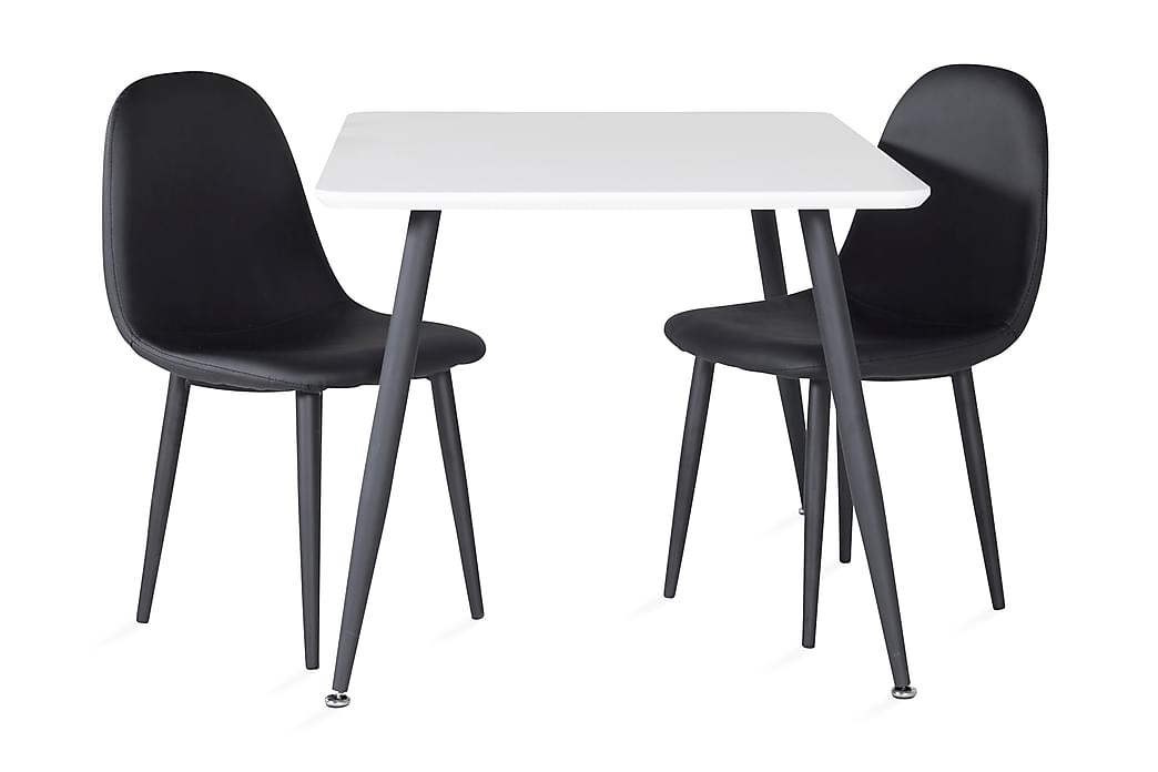 Nicci Matgrupp för barn 80 cm med 2 Domvik Matstolar - Vit Svart - Möbler - Barnmöbler - Barnbord