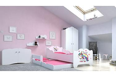 Barnsäng Anna Unicorn Rainbow  160x80+145x80 cm
