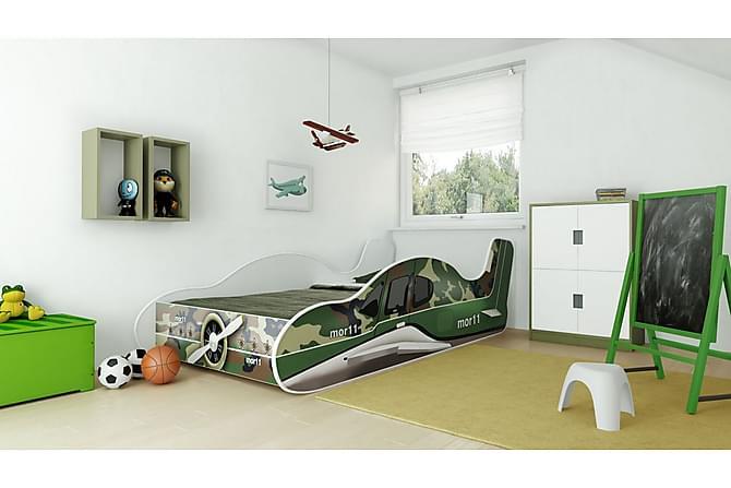 Barnsäng Demek Flygplan 80x160 - Grön - Möbler - Barnmöbler - Barnsäng & juniorsäng