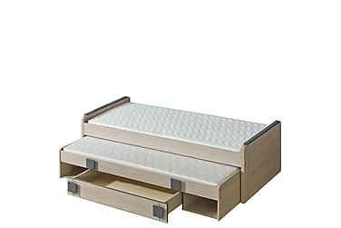 Barnsäng + madrass Gumi 207x86x63 cm