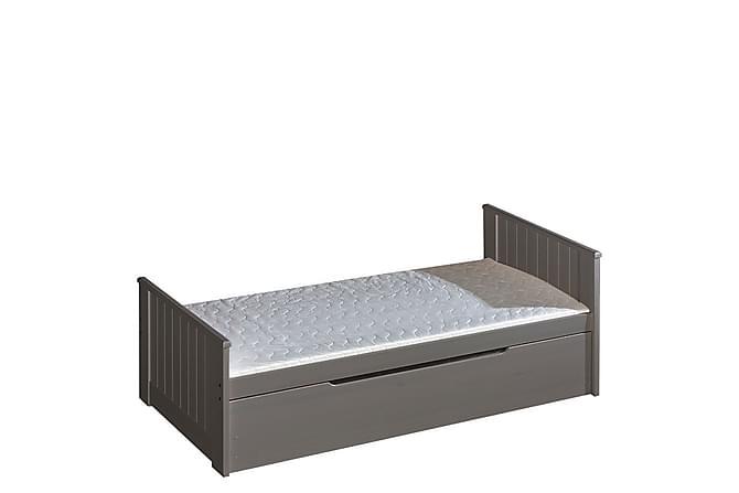 Barnsäng + madrass Tomi 206x99x80 cm - Antracit - Möbler - Barnmöbler - Barnsäng & juniorsäng