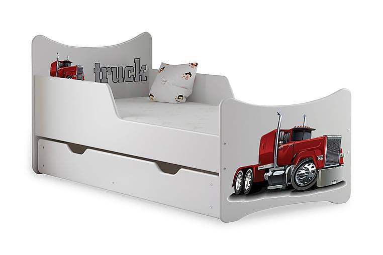 Barnsäng med Förvaring Frally American Truck inkl Madrass - Vit - Möbler - Barnmöbler - Barnsäng & juniorsäng