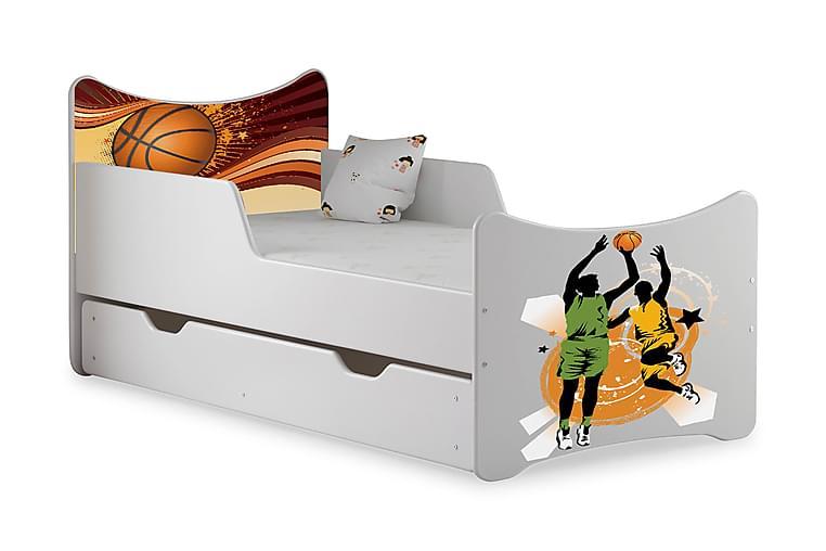 Barnsäng med Förvaring Frally Basket inkl Madrass - Vit - Möbler - Barnmöbler - Barnsäng & juniorsäng