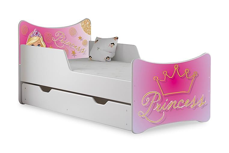 Barnsäng med Förvaring Frally Princess inkl Madrass - Vit - Möbler - Barnmöbler - Barnsäng & juniorsäng