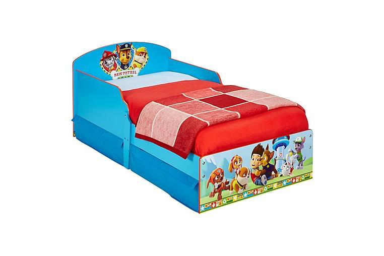 Barnsäng Paw Patrol 77x142 cm - Blå|Röd - Möbler - Barnmöbler - Barnsäng & juniorsäng