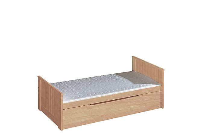 Barnsäng + madrass Tomi 206x99x80 cm - Tall - Möbler - Barnmöbler - Barnsäng & juniorsäng