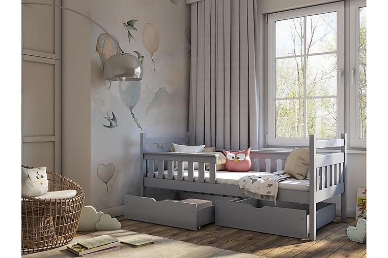 Charlotta Barnsäng med förvaring 80x180 Grå - Möbler - Barnmöbler - Barnsäng & juniorsäng