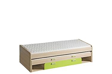 Förvaringssäng barn & madrass Lorento 203,5x86x55,5 cm