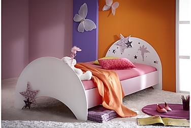 Säng Fingal 90x200 cm Vit/Lila