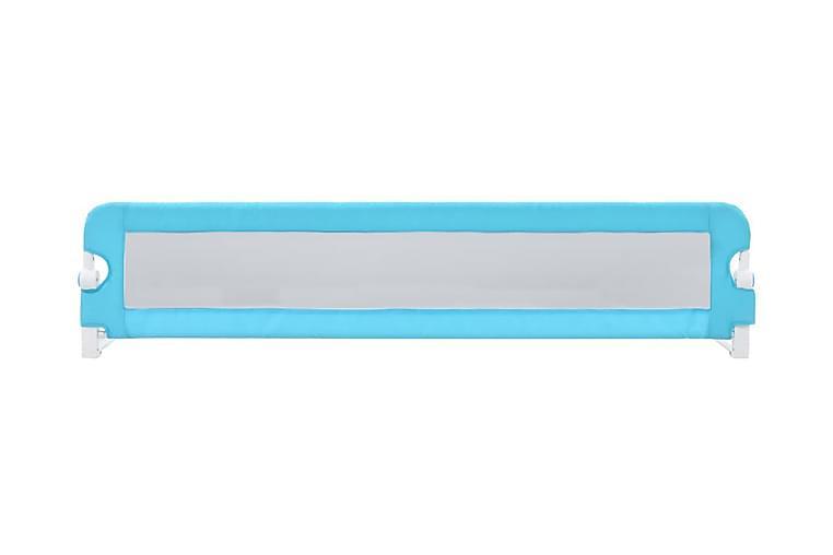 Sängskena för barn blå 180x42 cm polyester - Blå - Möbler - Barnmöbler - Barnsäng & juniorsäng