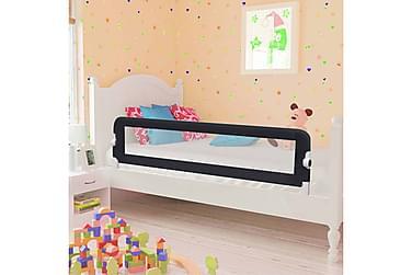 Sängskena för barn grå 150x42 cm polyester