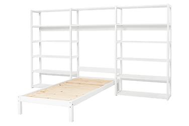 Säng Storey med Hylla 100x90x200 Vit