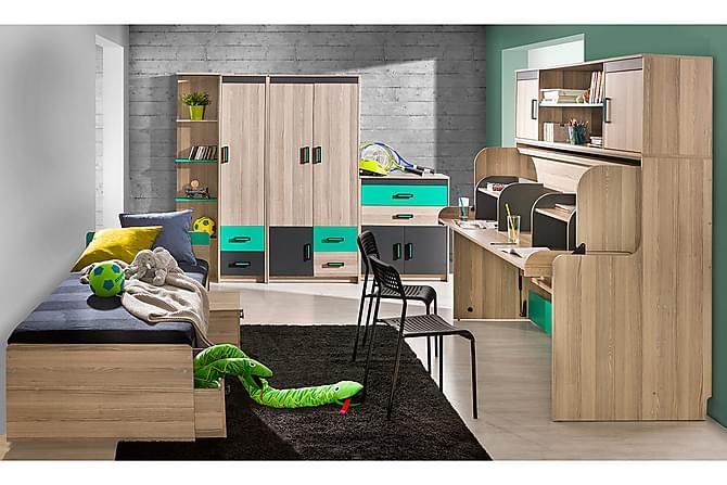Sovrumsset barn Ultimo - Antracit Grön - Möbler - Barnmöbler - Förvaring barnrum