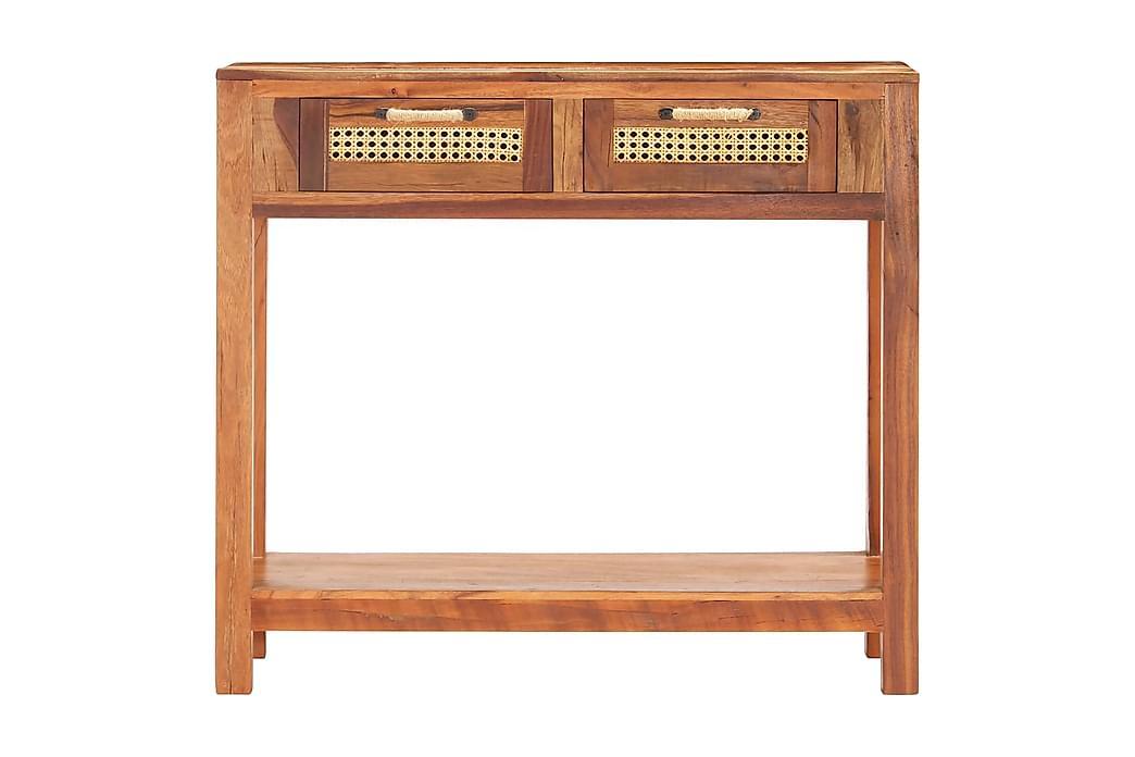 Avlastningsbord 86x30x76 cm massivt återvunnet trä - Brun - Möbler - Bord - Avlastningsbord & hallbord
