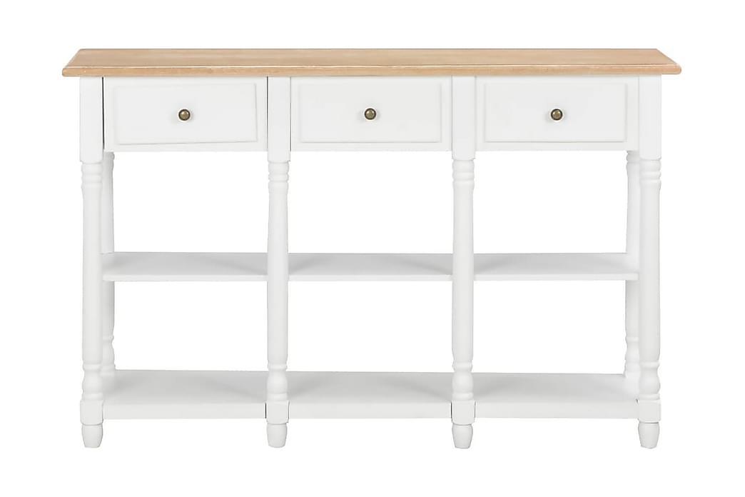 Konsolbord vit 120x30x76 cm MDF - Vit - Möbler - Bord - Avlastningsbord & hallbord
