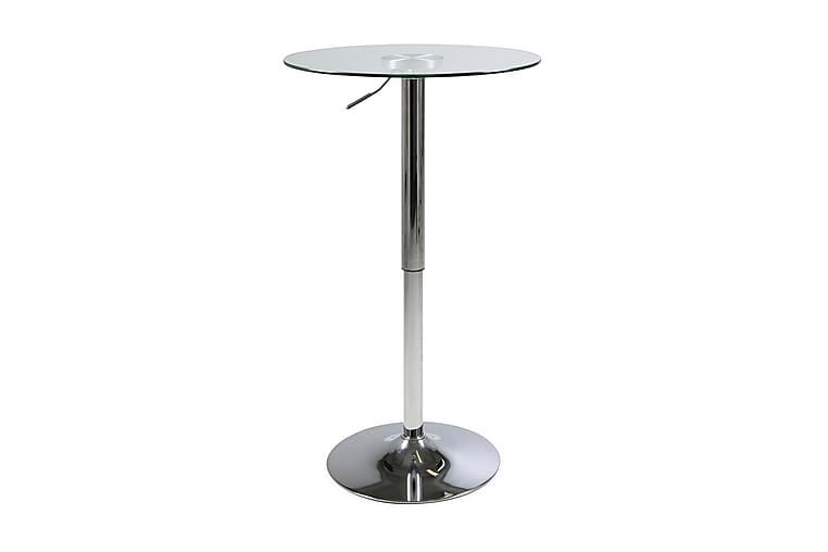 Barbord Marta 60 cm Runt - Glas|Krom - Möbler - Bord - Barbord & ståbord