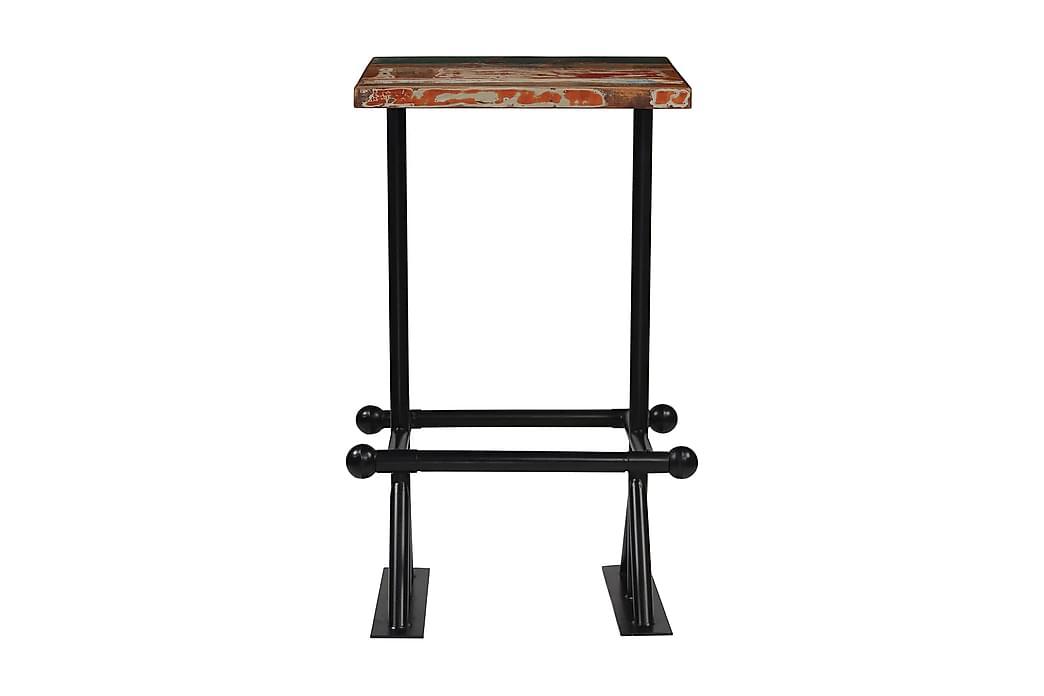 Barbord massivt återvunnet trä flerfärgat 60x60x107 cm - Flerfärgad - Möbler - Bord - Barbord & ståbord