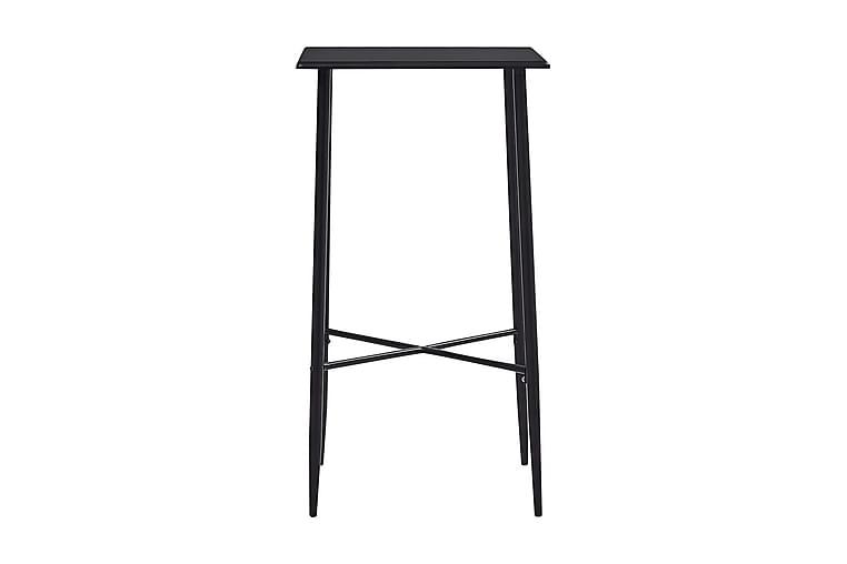 Barbord svart 60x60x111 cm MDF - Svart - Möbler - Bord - Barbord & ståbord