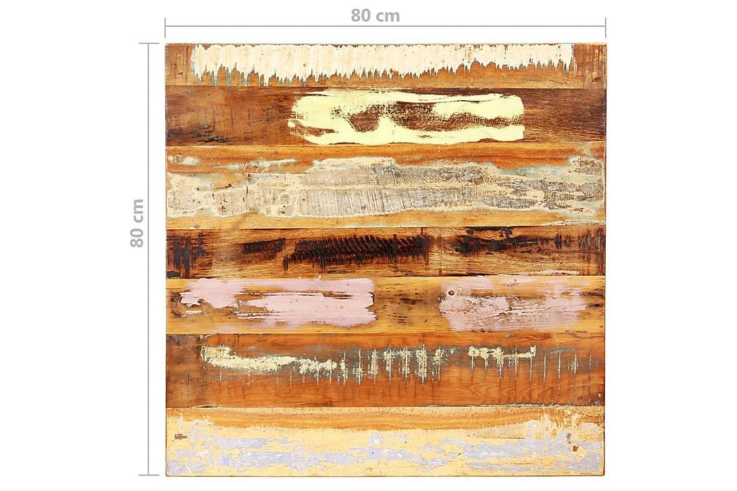 Fyrkantig bordsskiva 80x80cm 25-27 mm massivt återvunnet trä - Flerfärgad - Möbler - Bord - Bordsben & tillbehör