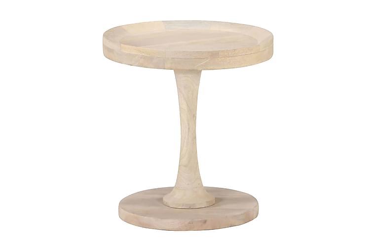 Sidobord Ø40x45 cm massivt mangoträ - Brun - Inredning - Småmöbler - Brickbord & småbord