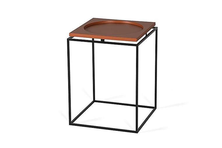 Sidobord Linolake 40 cm - Svart/Terracotta - Inredning - Småmöbler - Brickbord & småbord