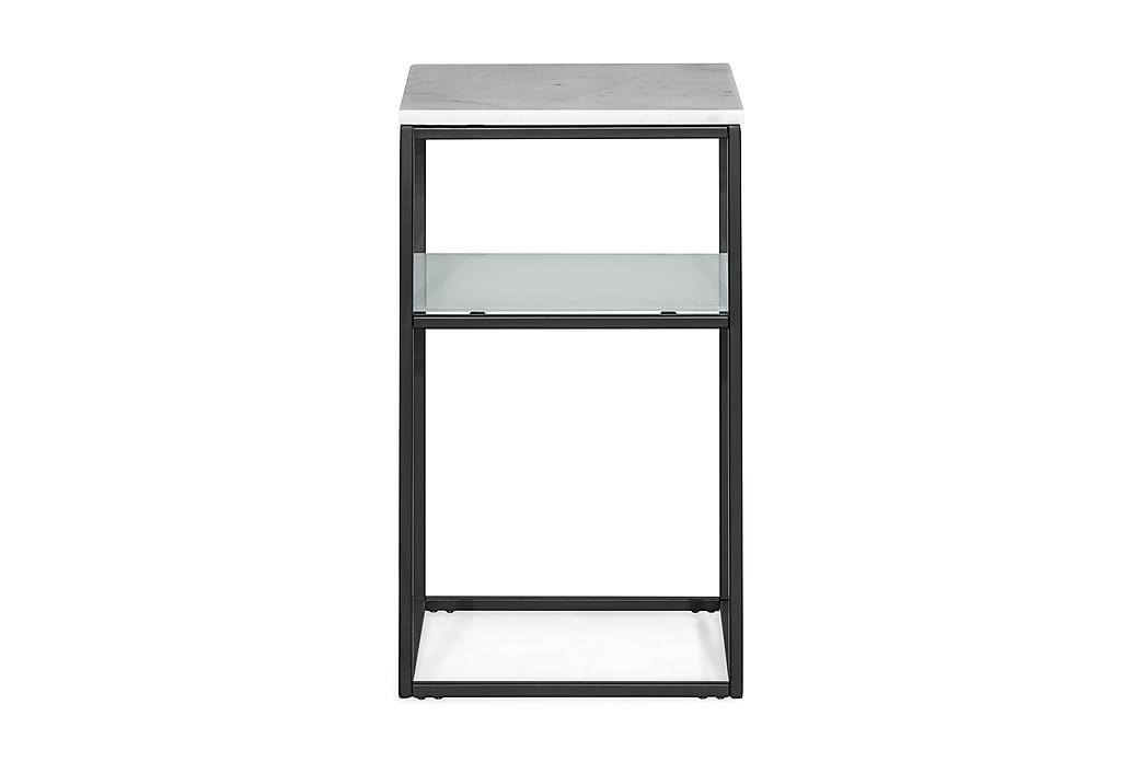 Sängbord Titania 40x40x70 cm Marmor - Vit|Svart - Möbler - Bord - Sängbord & nattduksbord