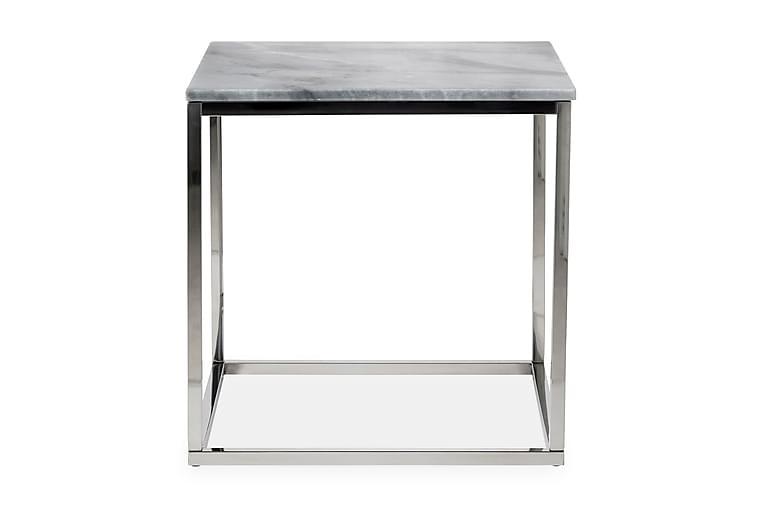 Sidobord Titania 45 cm Marmor - Grå Stål - Inredning - Småmöbler - Brickbord & småbord