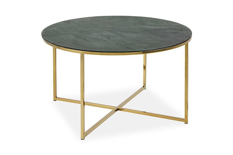 Soffbord Alisma 80 cm - Grön marmor - Möbler - Bord - Soffbord