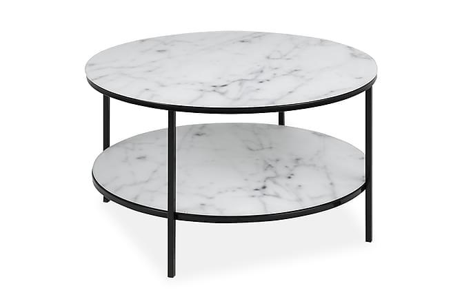 Soffbord Alisma 80 cm Runt - Vit|Svart|Grå - Möbler - Bord - Soffbord