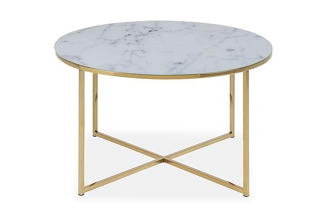 Soffbord Alisma 80 cm - Vit marmor - Möbler - Bord - Soffbord