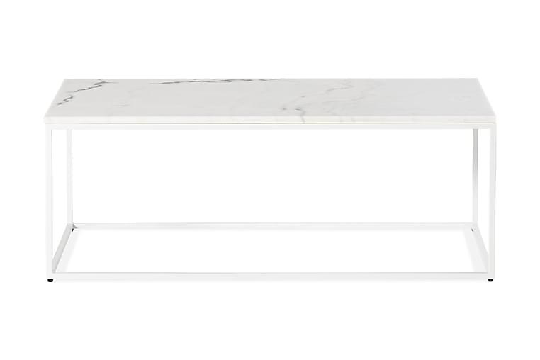 Soffbord Titania 120 cm Marmor - Vit - Möbler - Bord - Soffbord